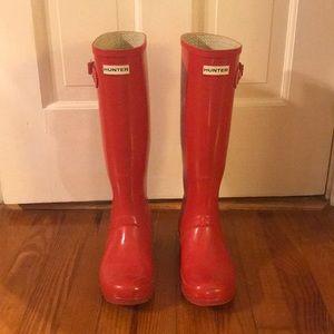 Hunter Rain Boots Red